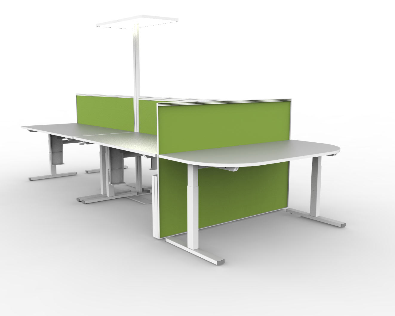 Bench met 3de niveau (5 personen)