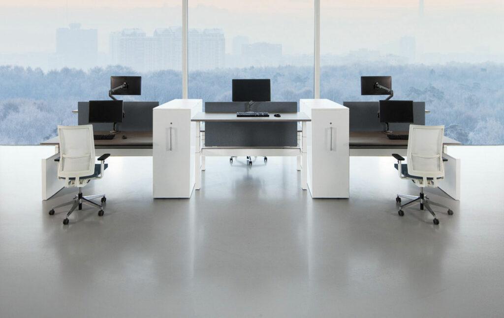 System bureau ou bench assis debout 65 130 cm ou for Bureau 85 cm