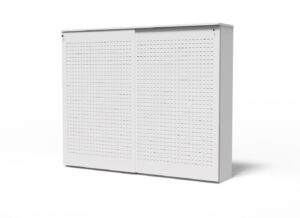 S Box, wit, 5 OH, met perforatie