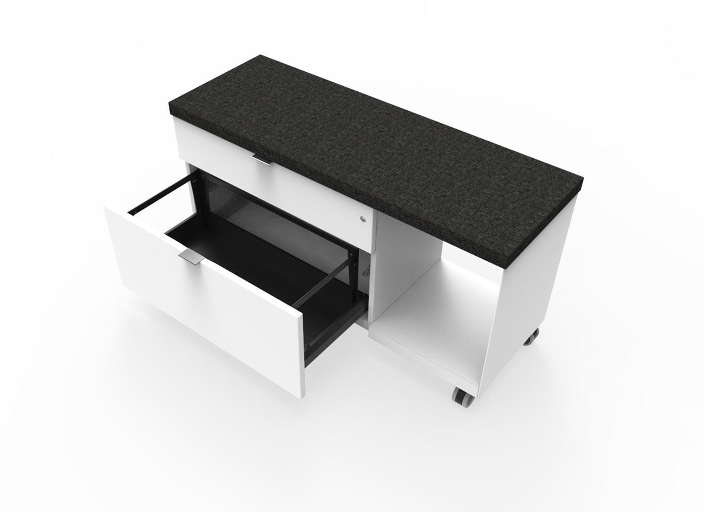 Sidetable met diepe lade en zitkussen