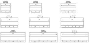 Scheme van kabelgootsets Connex P4
