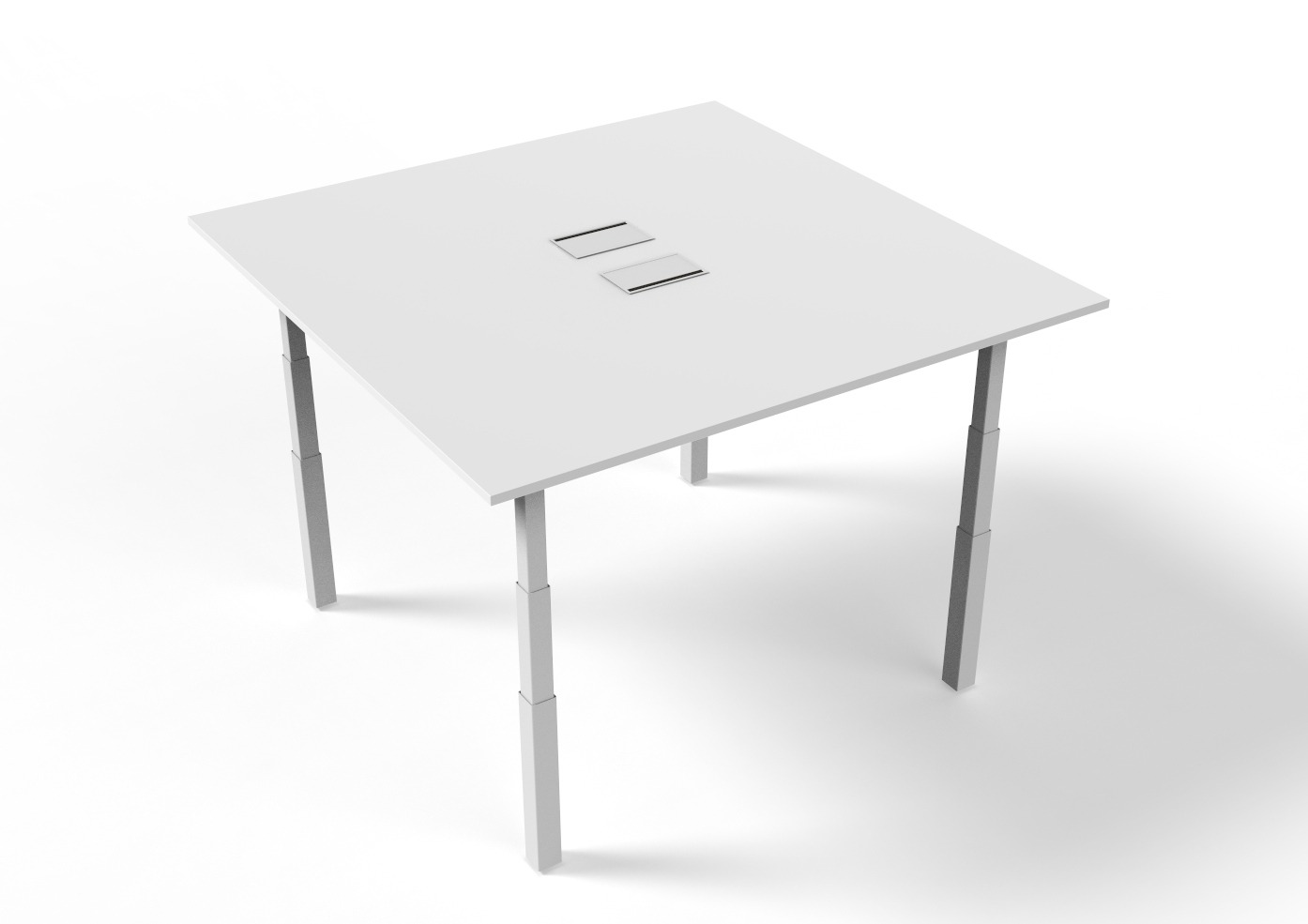 zit-sta vierkante vergadertafel